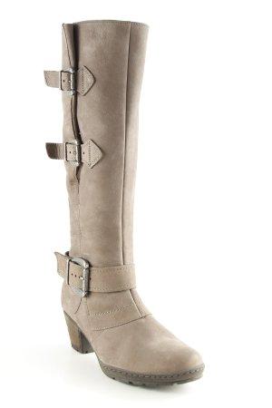 Gabor Absatz Stiefel graubraun schlichter Stil