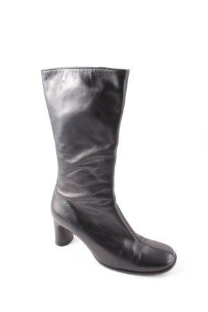 Gabor Laarzen met hak zwart retro uitstraling