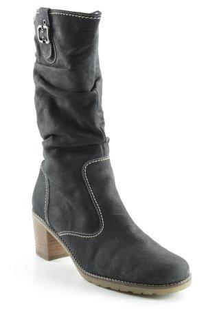 Gabor Absatz Stiefel schwarz-weiß schlichter Stil