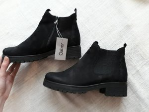 Gabor Ankle boots/Chelsea Boots / Stiefeletten 38 schwarz Leder
