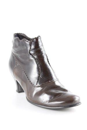 Gabor Ankle Boots schwarzbraun Glanz-Optik