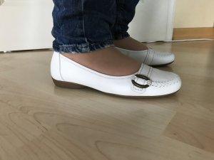 Gabor Ballerina Gr 37 Uk 4 weiß Schuhe