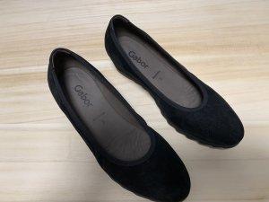 Gabor Ballerines pliables noir daim