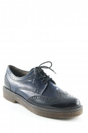 Gabor Wingtip Shoes black-dark blue business style