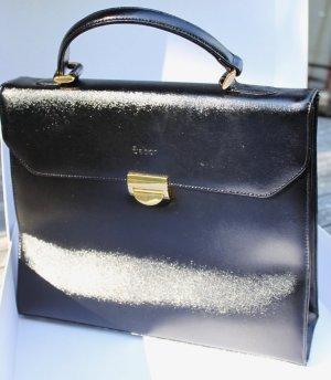 Gabor Laptop bag black-gold-colored imitation leather