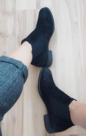 Gabor Chelsea Boots Leder schwarz Ankle 38 / 5
