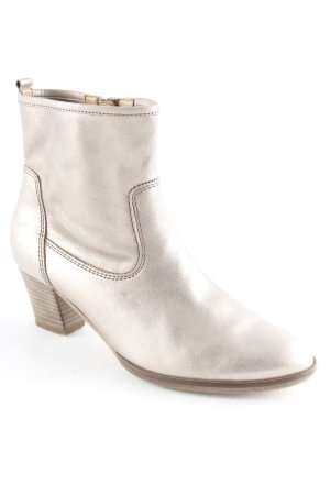 Gabor Chelsea Boots silberfarben Schimmer-Optik