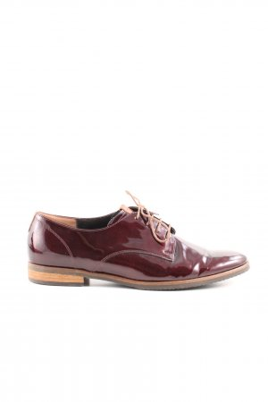 Gabor Comfort Wingtip Shoes red business style