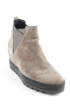 Gabor Comfort Chelsea Boots graubraun-anthrazit Street-Fashion-Look