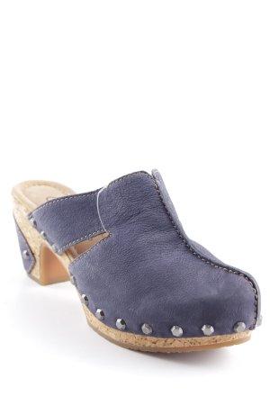 Gabor Comfort Clog Sandalen dunkelblau-camel extravaganter Stil