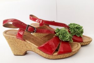 Gabor Comfort Wedge Sandals multicolored leather