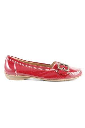 Gabor Comfort Mocassins rouge foncé style décontracté