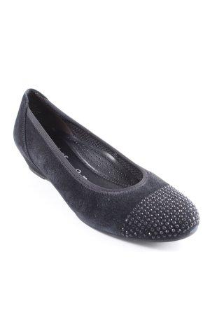Gabor Comfort Plateau-Sandalen schwarz schlichter Stil
