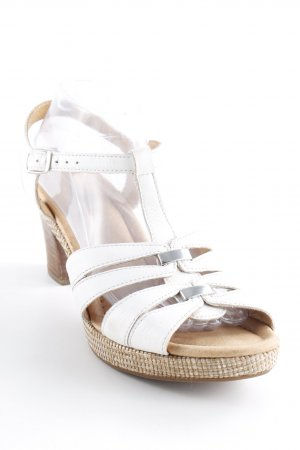 Gabor Comfort Platform High-Heeled Sandal white casual look