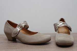 Gabor Comfort Tacones de hebilla gris claro Cuero