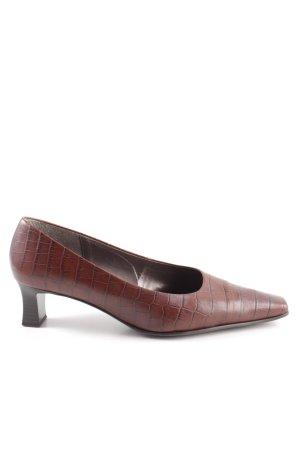 Gabor Comfort Richelieus Shoes brown animal pattern vintage look