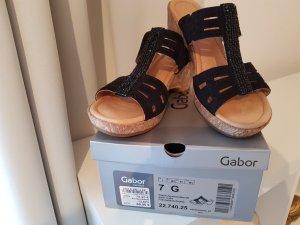 Gabor Comfort Platform High-Heeled Sandal black