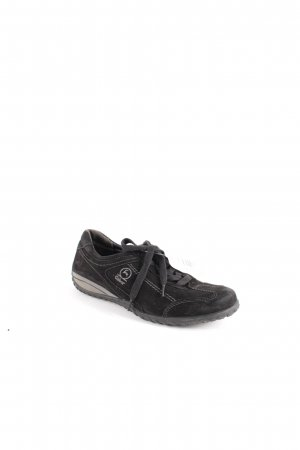 Gabor Comfort Zapatilla brogue negro look casual