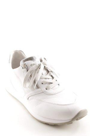 Gabor Comfort Schnürsneaker weiß-silberfarben Casual-Look