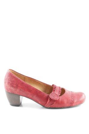 Gabor Comfort Décolleté con fibbia rosso mattone stile classico