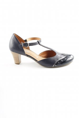 Gabor Comfort Zapatos de tacón con barra en T azul oscuro elegante
