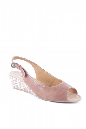 Gabor Comfort Wedge Sandals mixed pattern casual look