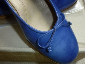 Gabor Patent Leather Ballerinas blue leather