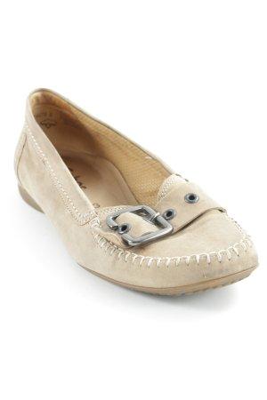 Gabor faltbare Ballerinas beige Casual-Look