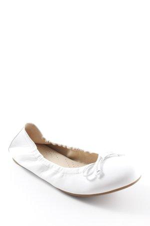 Gabor faltbare Ballerinas weiß Casual-Look