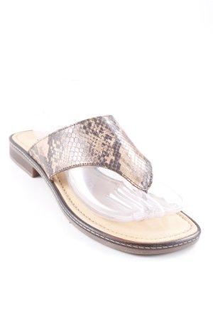 Gabor Flip Flop Sandalen Animalmuster extravaganter Stil
