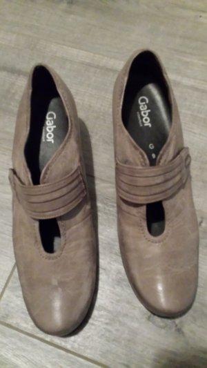 Gabor Comfort Chaussure à talons carrés gris brun