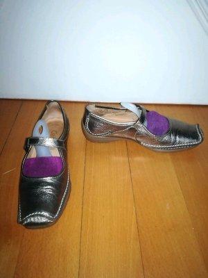 Gabor Goldene Flache Schuhe