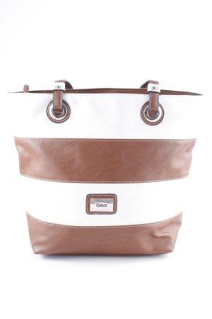 Gabor Handtasche braun-wollweiß Business-Look