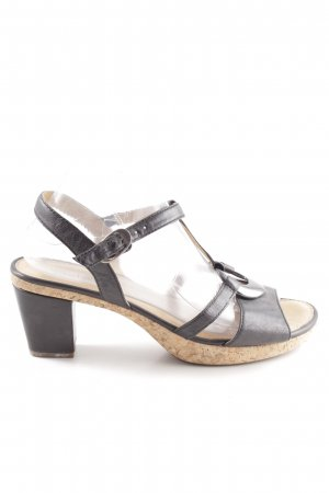 Gabor High Heel Sandaletten schwarz Casual-Look