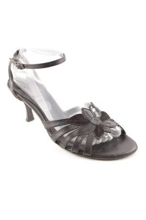 Gabor High Heel Sandaletten schwarz Blumenmuster Business-Look