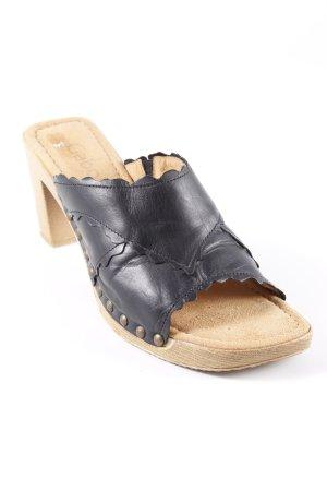 Gabor High Heel Sandaletten schwarz-sandbraun Casual-Look