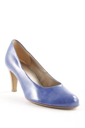 Gabor High Heels blau-hellbraun Glanz-Optik