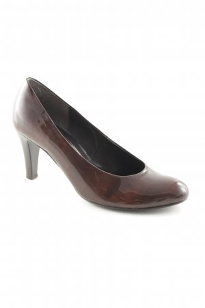 Gabor High Heels braun Lack-Optik