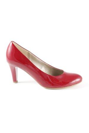 Gabor High Heels brombeerrot Business-Look