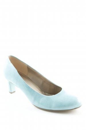 Gabor High Heels hellblau Lack-Optik