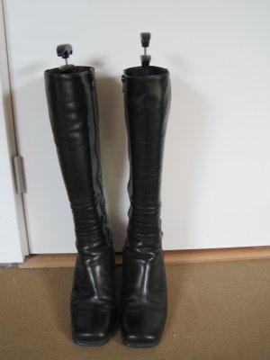 Gabor, hochwertiger Lederstiefel, schwarz, wie neu, Gr. 6,5