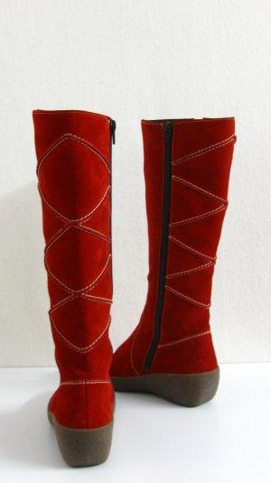 Gabor Platform Boots multicolored suede