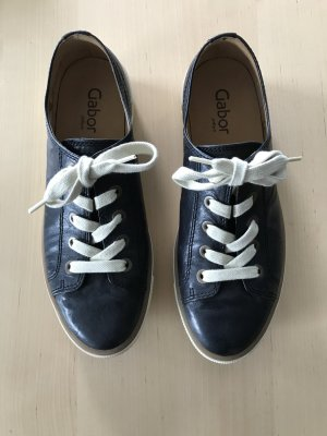 Gabor Lace Shoes dark blue leather