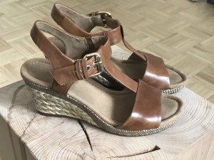 Gabor Platform High-Heeled Sandal cognac-coloured