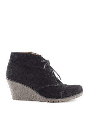 Gabor Wedge Booties black-light grey casual look