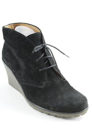 Gabor Keil-Stiefeletten schwarz-graubraun Casual-Look