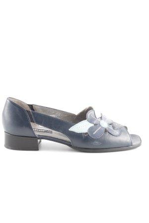 Gabor Comfortabele sandalen donkerblauw-turkoois bloemenprint casual uitstraling