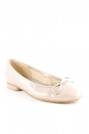 Gabor Patent Leather Ballerinas dusky pink business style