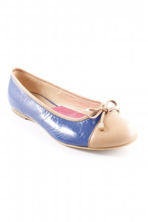 Gabor Patent Leather Ballerinas camel-blue casual look