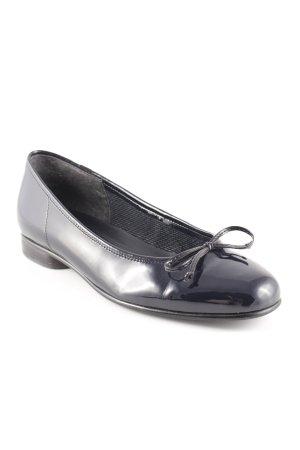 Gabor Patent Leather Ballerinas black elegant